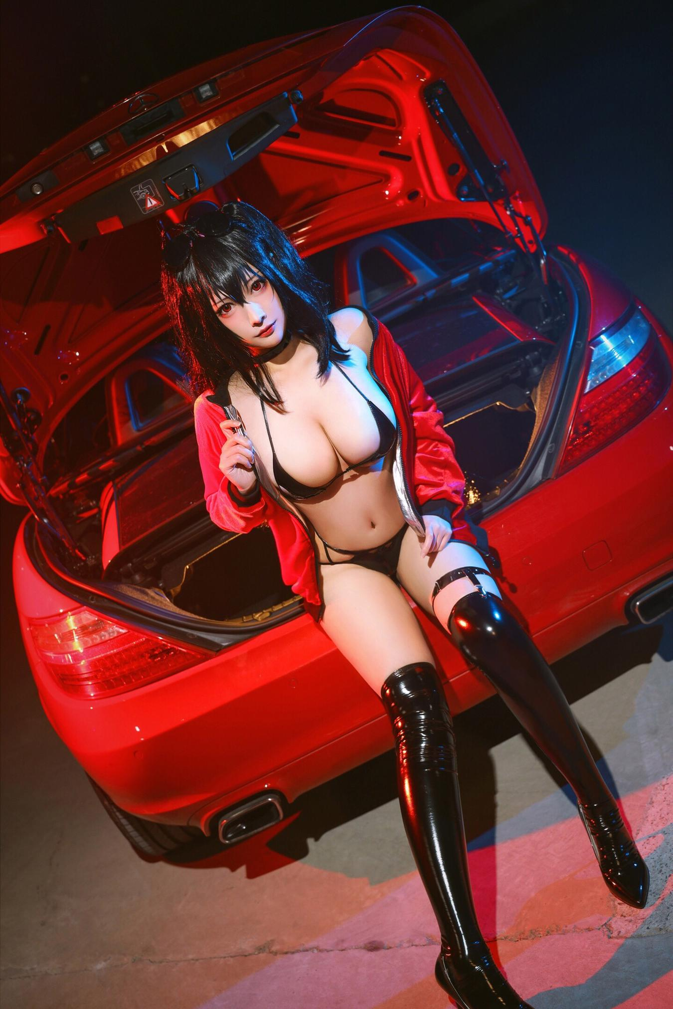 Picture with tags: HD, Cosplay, Interesting, Lingerie, Heels, Unknown model, Girl